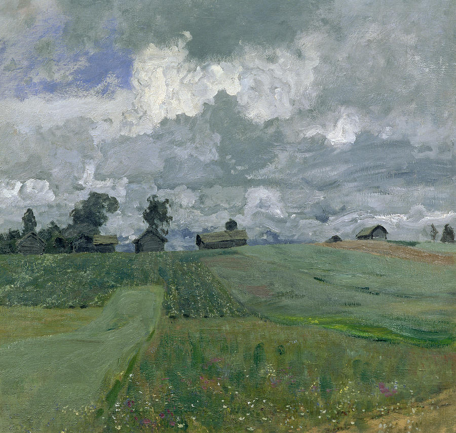 Weather Painting - Stormy Day by Isaak Ilyich Levitan