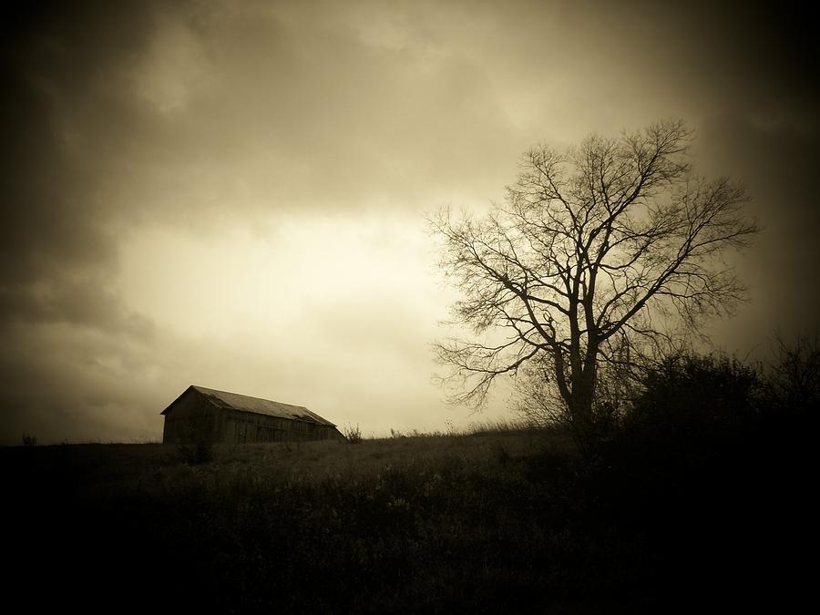Farm Photograph - Stormy Day by Michael L Kimble