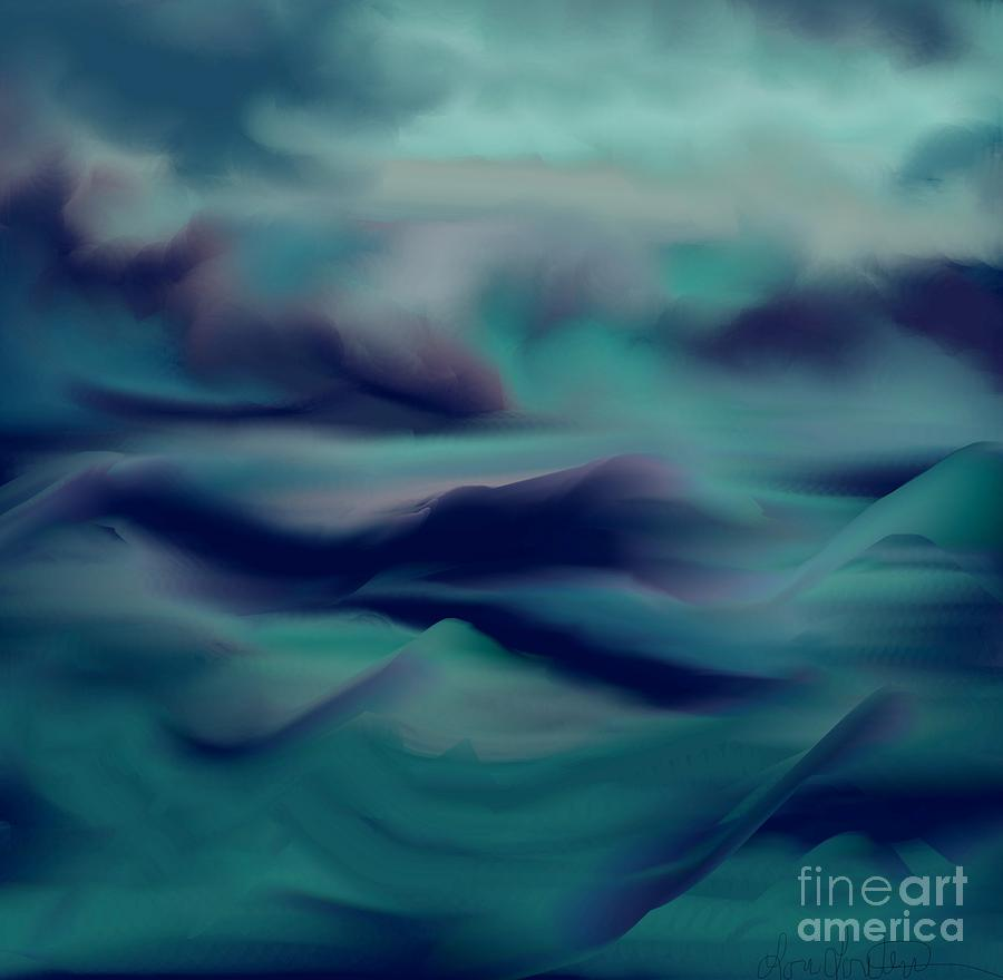 Storm Painting - Stormy Days by Lori  Lovetere