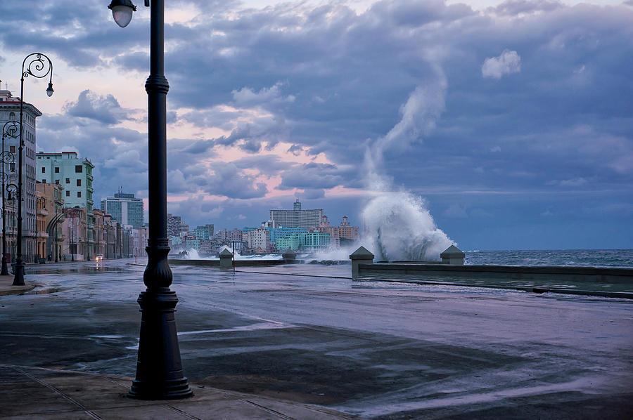 Havana Photograph - Stormy Malecon by Mike Kreiten
