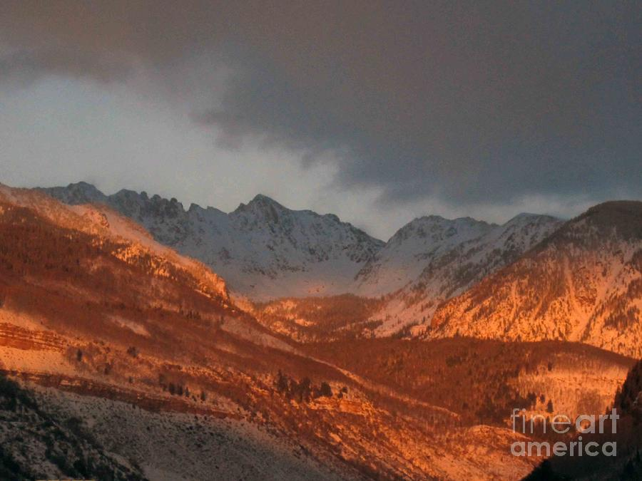 Mountains Photograph - Stormy Monday by Fiona Kennard