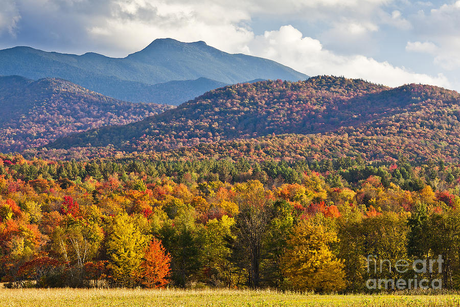 Fall Photograph - Stormy Mount Mansfield by Alan L Graham