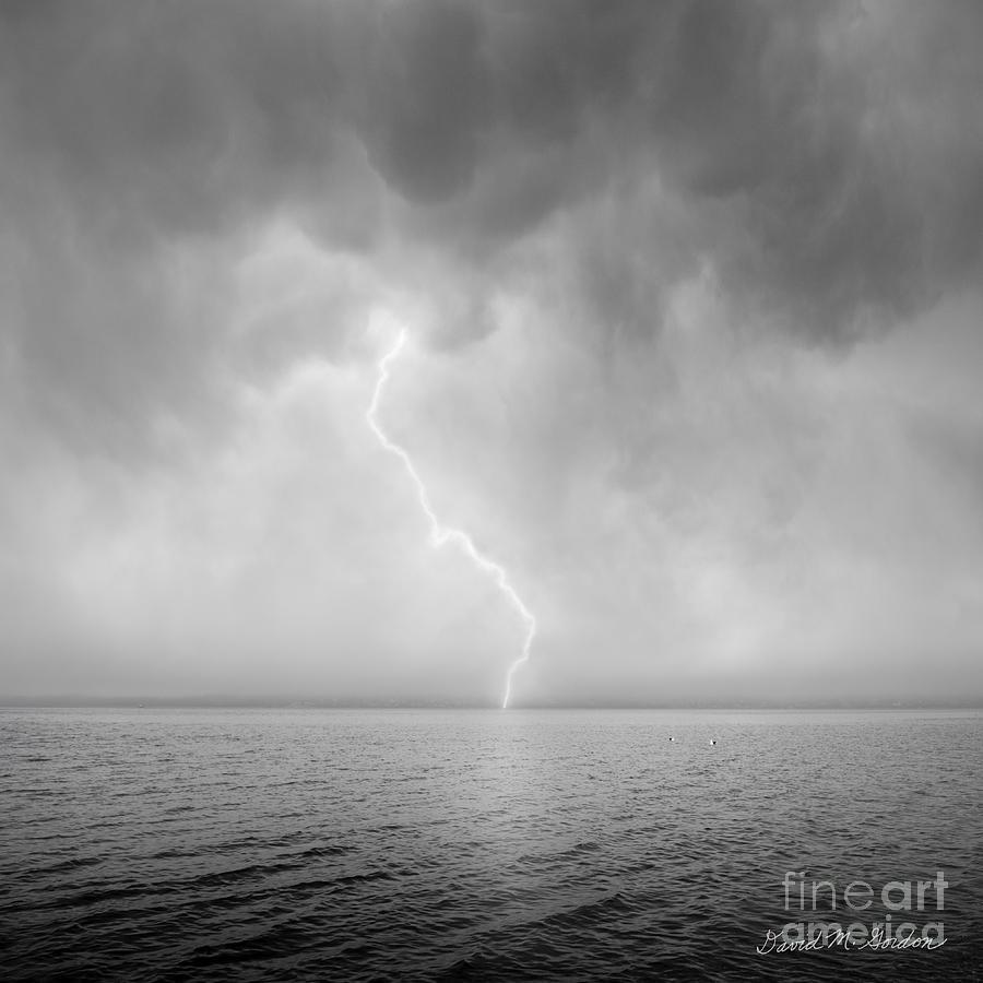 Lightning Photograph - Stormy Night  by Dave Gordon
