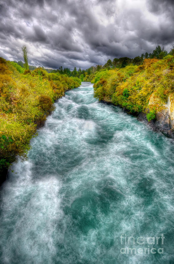Wild Photograph - Stormy River by Colin Woods