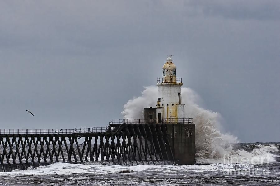 Stormy Sea at Blyth by Les Bell