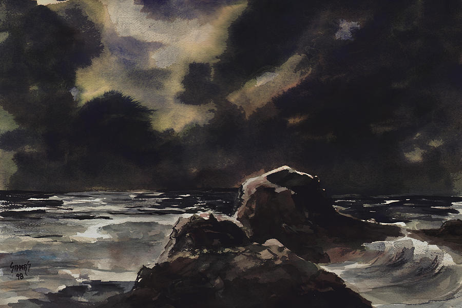 Sea Painting - Stormy Sea by Sam Sidders