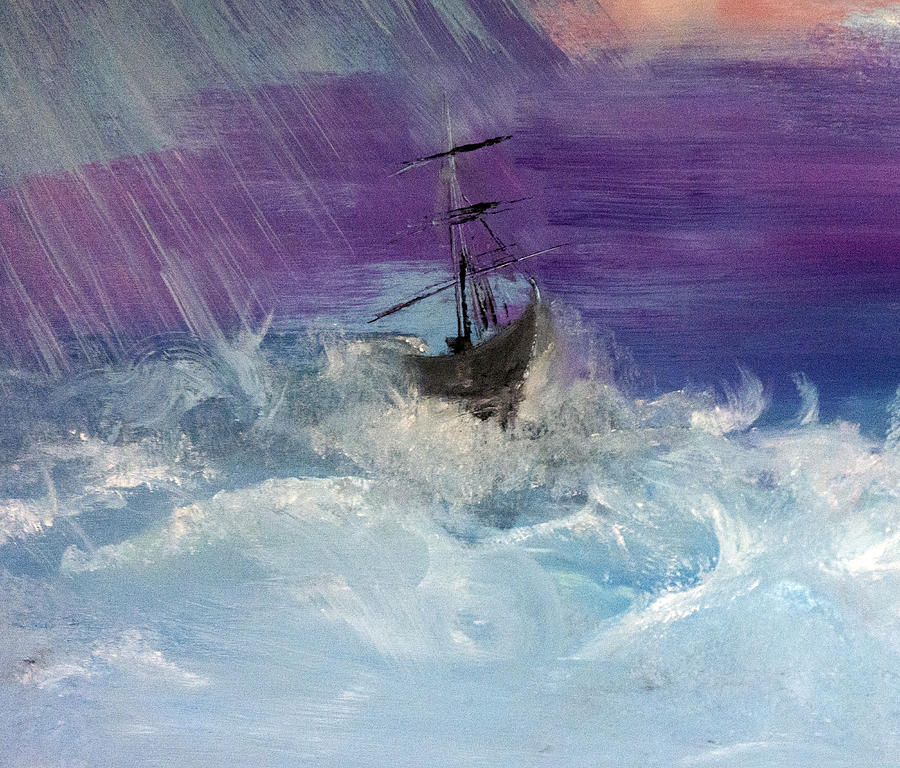 Storm Painting - Stormy Seas by Lisa Kaiser