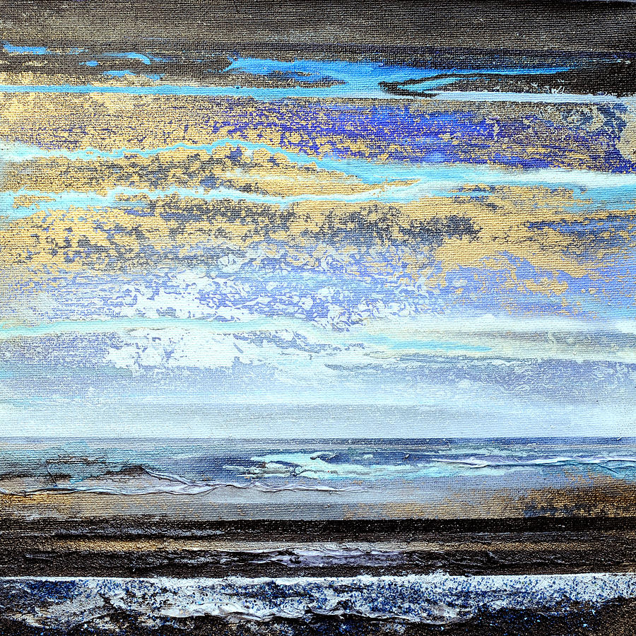 Storms Mixed Media - Stormy Skies Hauxley Haven No1 by Mike   Bell