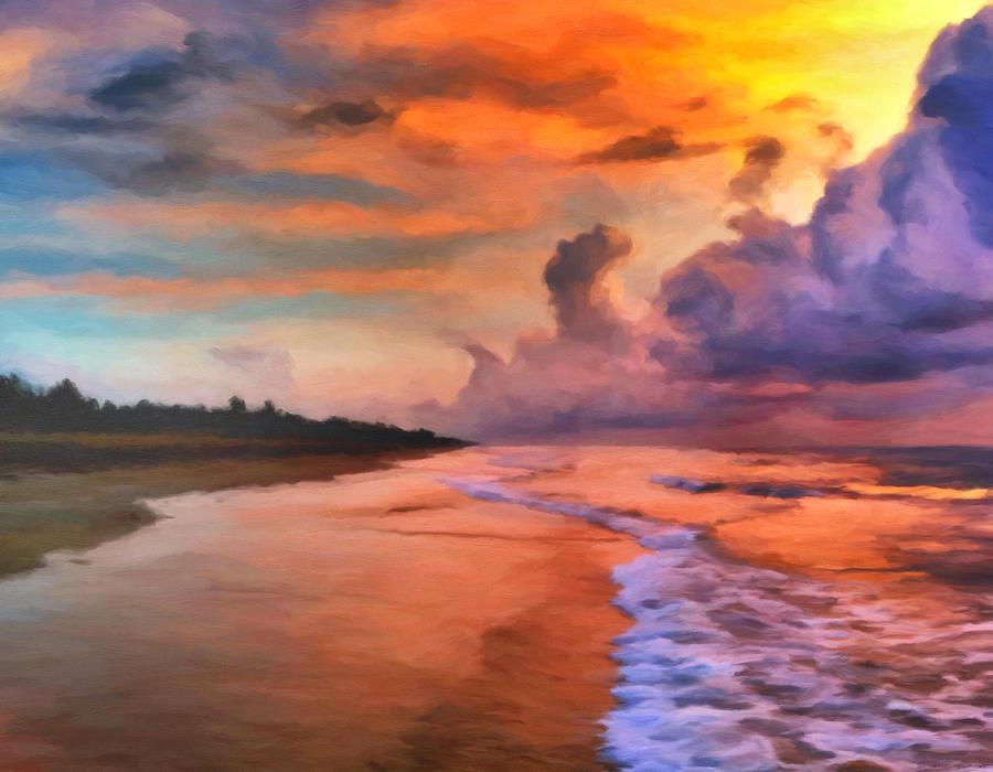 Sunrise Painting - Stormy Skies by Michael Pickett