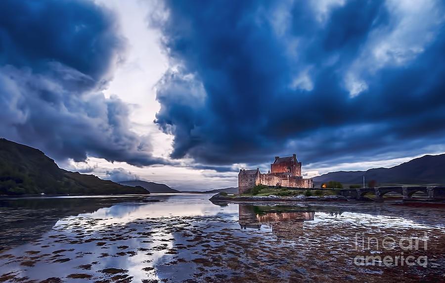 Stormy Skies Over Eilean Donan Castle by Bel Menpes