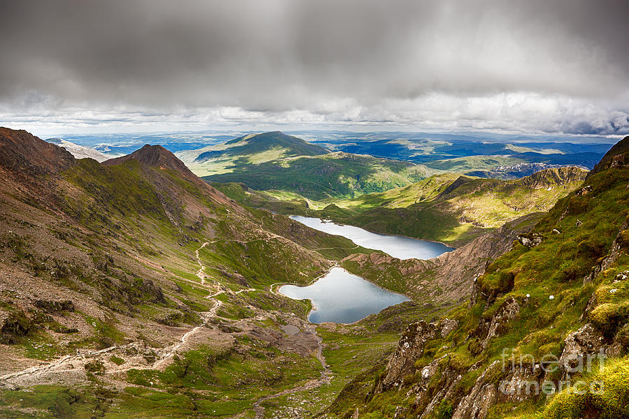 Beautiful Photograph - Stormy Skies Over Snowdonia by Jane Rix