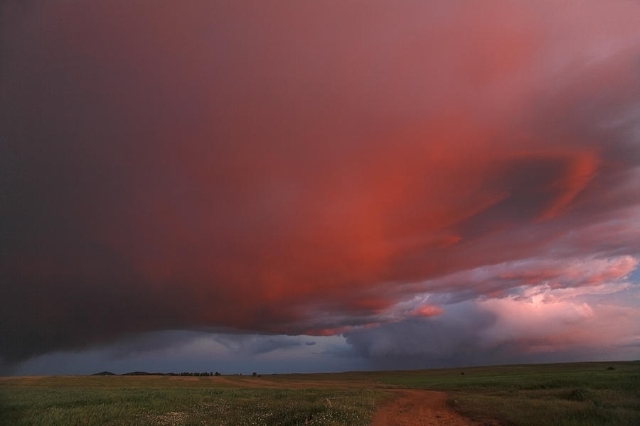 Stormy Sky At Twilight Alentejo Portugal Photograph by Duncan Usher