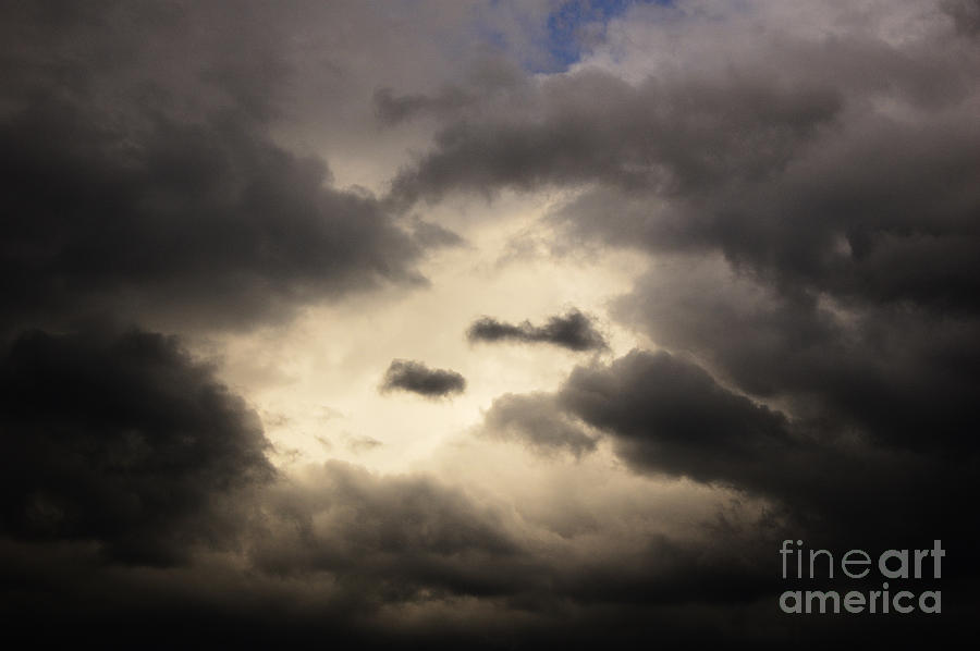 Black Photograph - Stormy Sky With A Bit Of Blue by Thomas R Fletcher