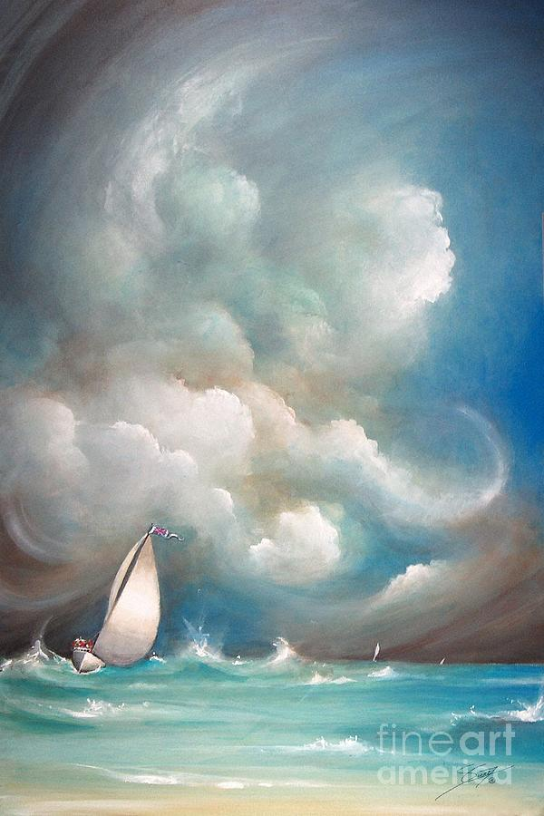Acrylics Painting - Stormy Sunday by Artist ForYou