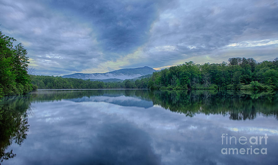 Blue Ridge Parkway Photograph - Stormy Sunrise Over Price Lake - Blue Ridge Parkway I by Dan Carmichael