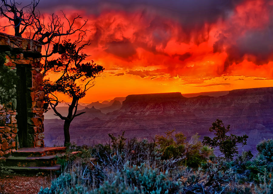 Greeting Card Photograph - Stormy Sunset Greeting Card by Greg Norrell