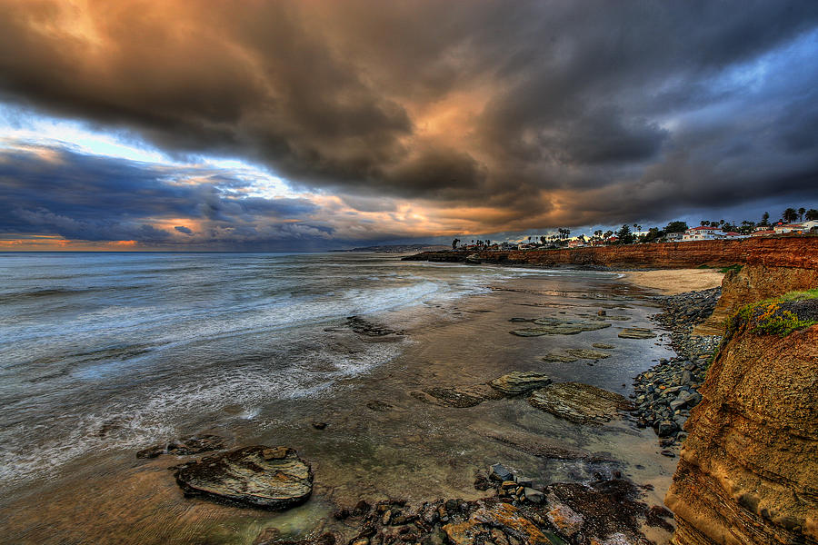 Clouds Photograph - Stormy Sunset by Peter Tellone
