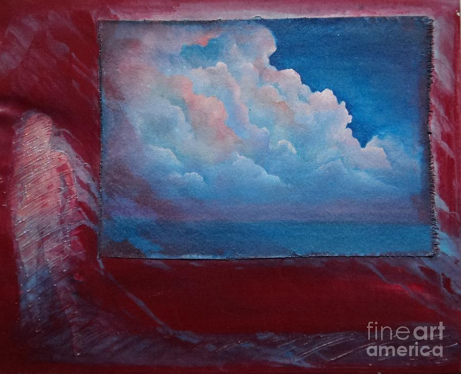 Clouds Painting - Stormy Weather by Cynthia Vaught