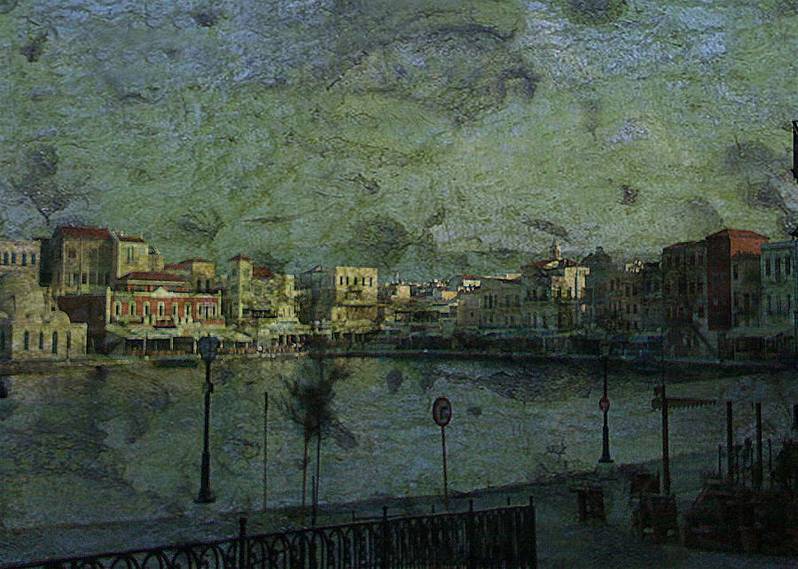 Harbour Digital Art - Stormy Weather by Sarah Vernon