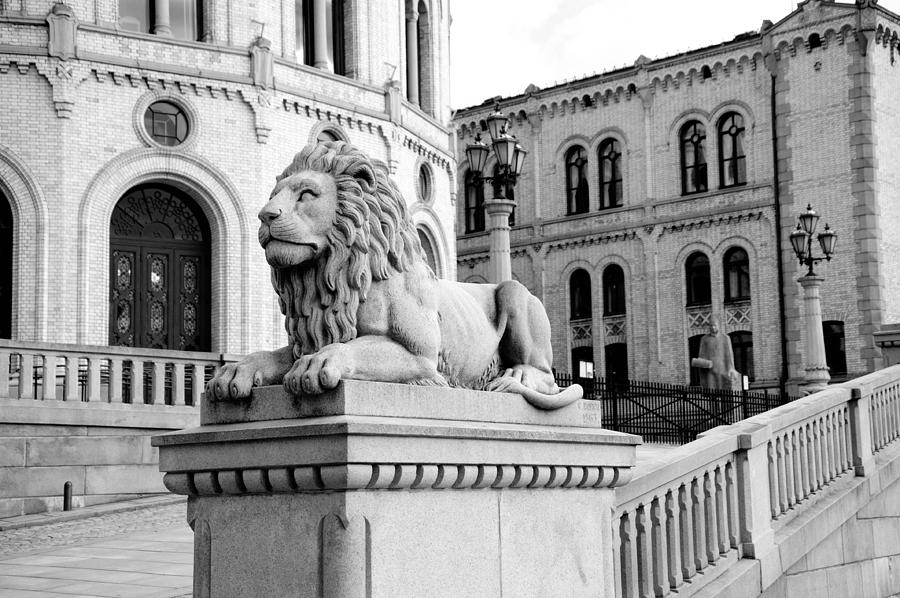 Norway Photograph - Stortinget Parliament Building Oslo Norway by Zina Zinchik