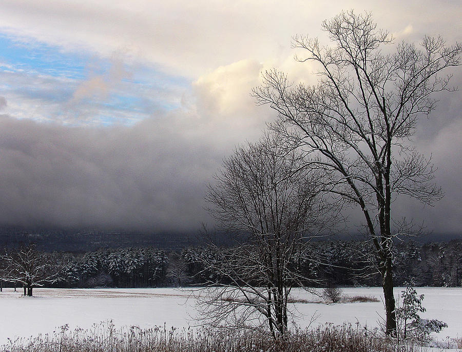 Sublime Photograph - Storys Field With Passing Clouds Of Winter by Terrance DePietro