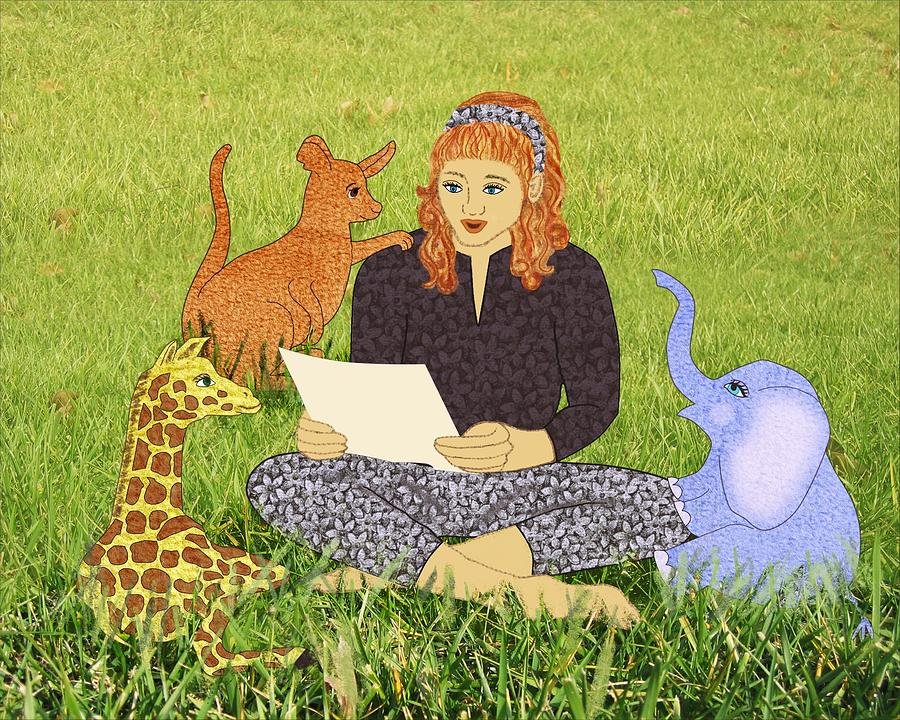Landscape Digital Art - Storytime by Julia and David Bowman