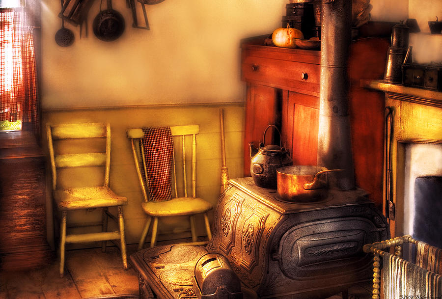 Savad Photograph - Stove - An Old Farm Kitchen by Mike Savad