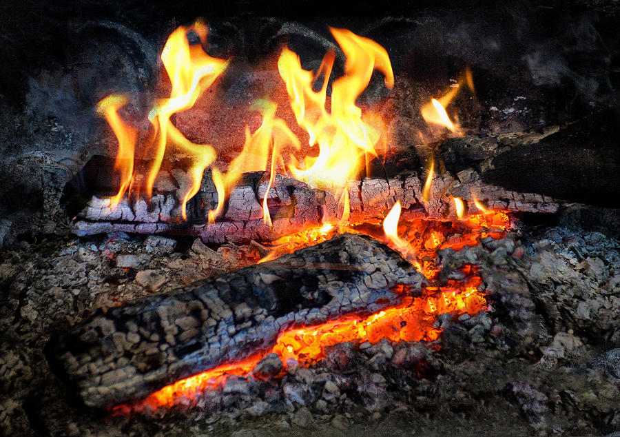 Hdr Photograph - Stove - The Yule Log  by Mike Savad