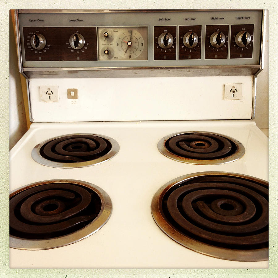 Appliance Photograph - Stove Top by Les Cunliffe