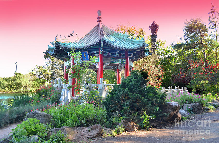 Stow Lake Photograph - Stow Lake Pagoda In Golden Gate Park In San Francisco by Jim Fitzpatrick