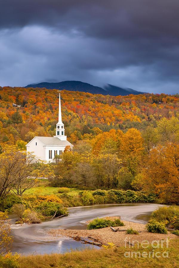 Autumn Photograph - Stowe Church by Brian Jannsen