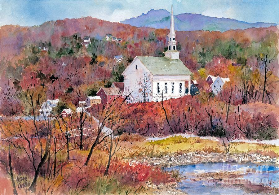 Autumn Painting - Stowe Village by Sherri Crabtree
