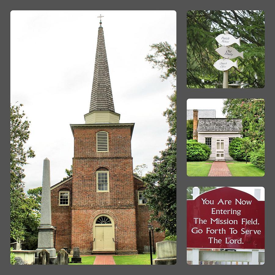 Church Photograph - St.pauls Collage by Carolyn Ricks