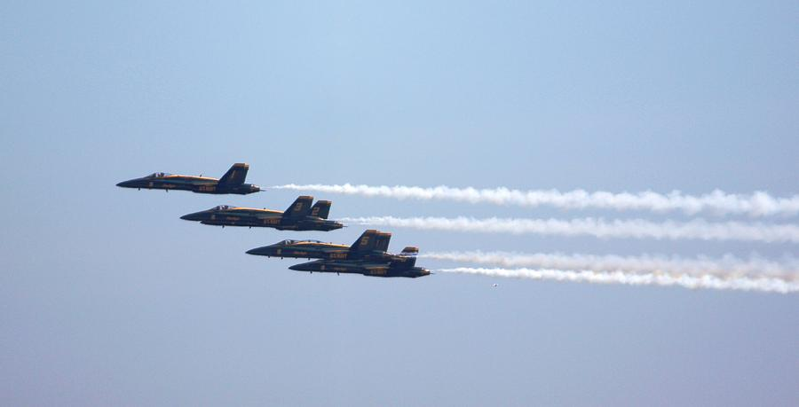 Blue Angels Photograph - Straight Away by French Toast