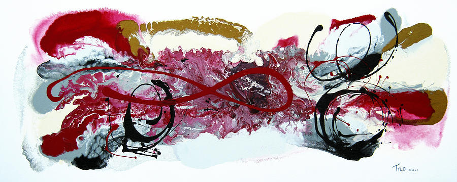 Contemporary Abstract Painting - Straight Through My Heart by Tylo Jacobs