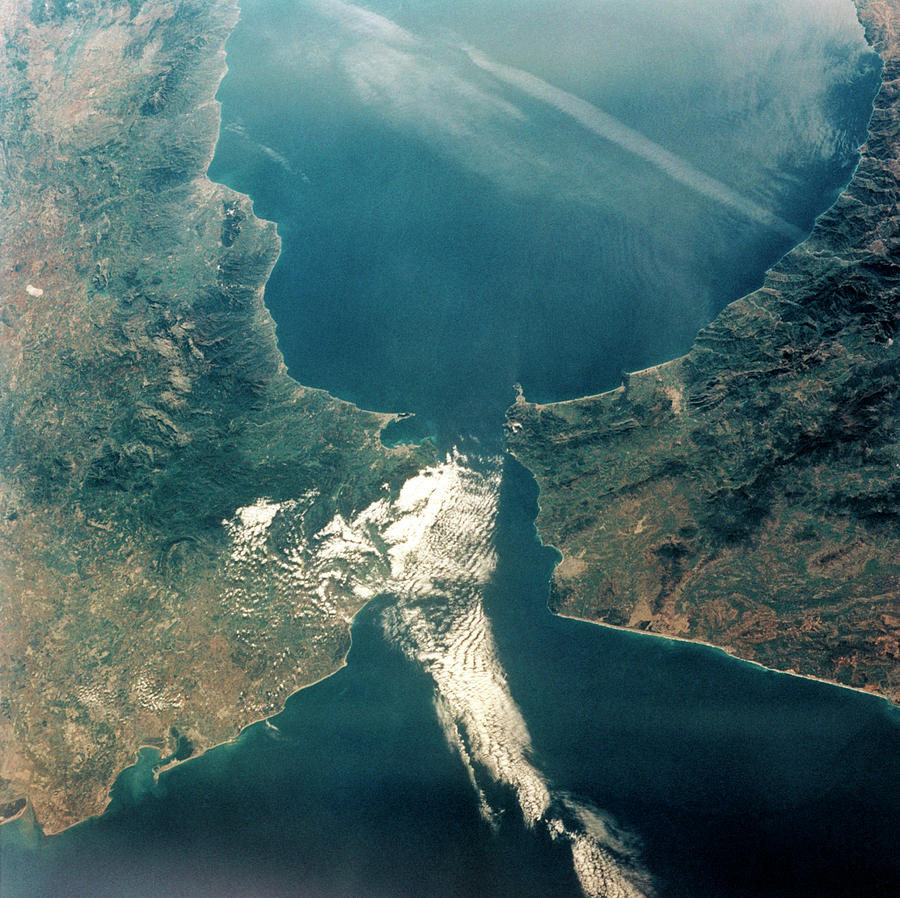 Gibraltar Photograph - Strait Of Gibraltar by Nasa/science Photo Library