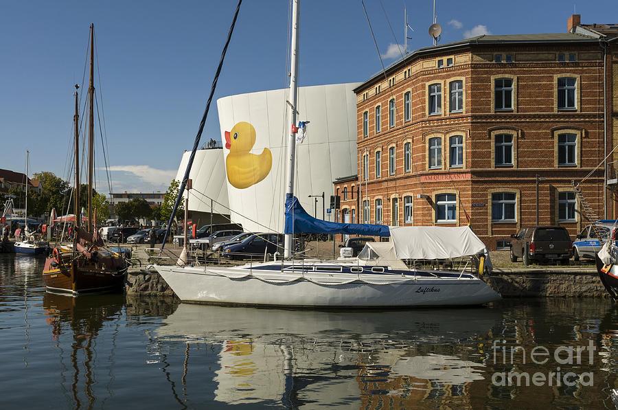 Stralsund Photograph - Stralsund Harbour Germany. by David Davies