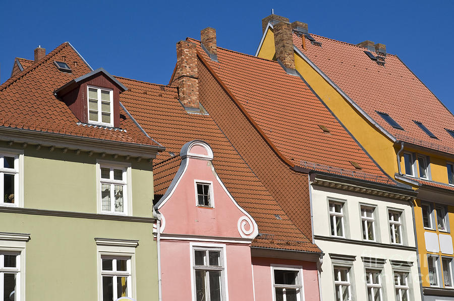 Architecture Photograph - Stralsund Roofs. by David Davies
