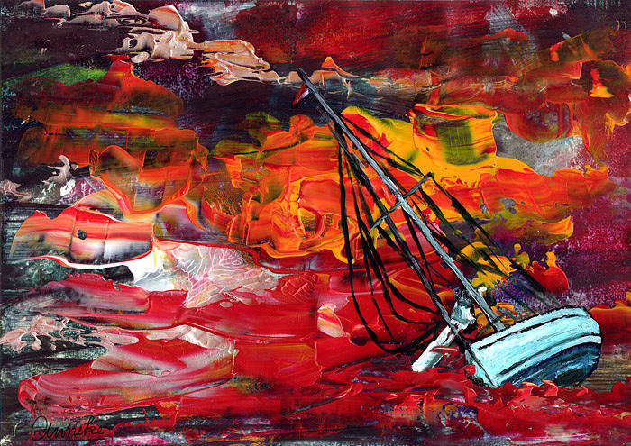 Shipwreck Painting - Stranded by Anneke Hut