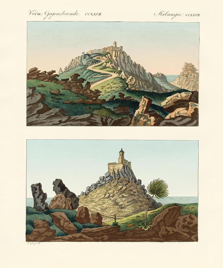 Bertuch Drawing - Strange Abbeys In Portugal by Splendid Art Prints
