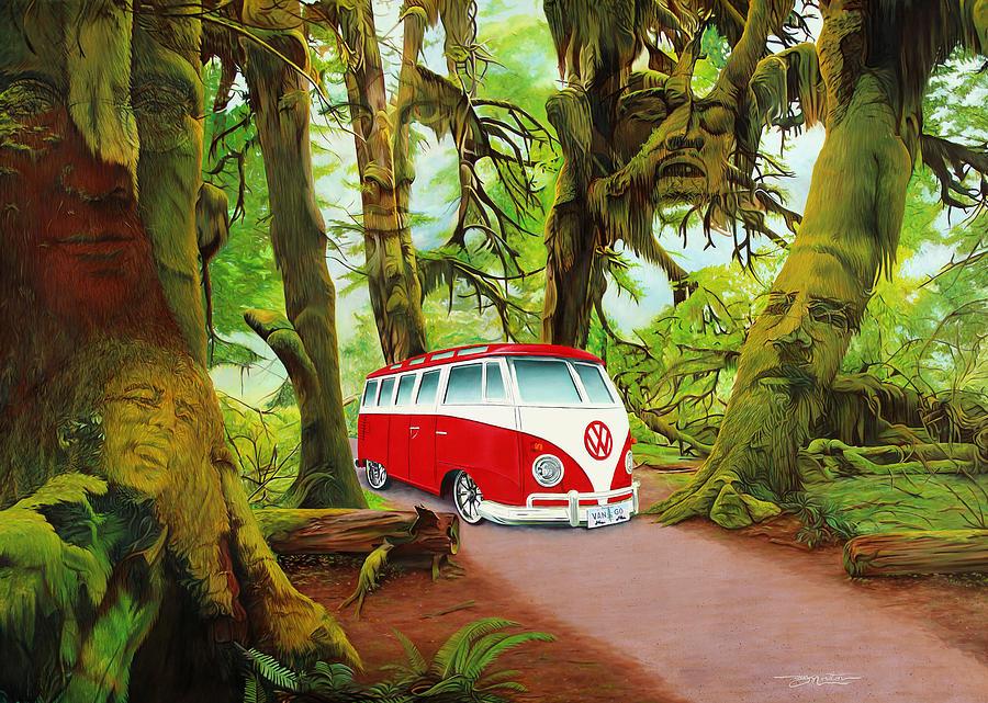 Jerry Garcia Painting - Strange Days by Joshua Morton