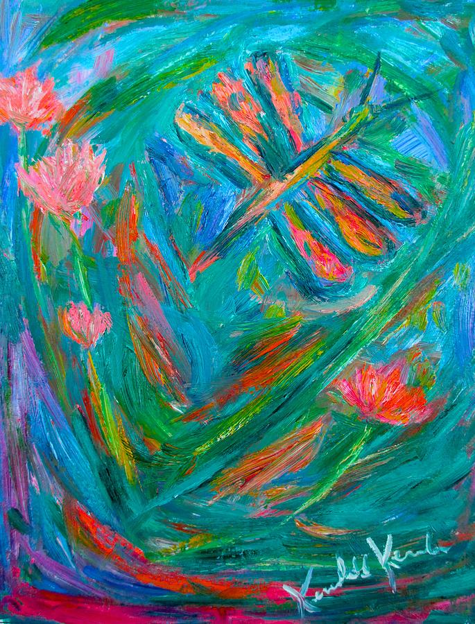 Dragonfly Painting - Strange Dragonfly by Kendall Kessler
