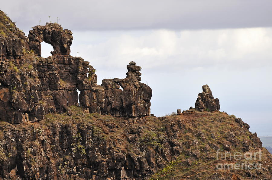 Beauty In Nature Photograph - Strange Rock Formation by Sami Sarkis