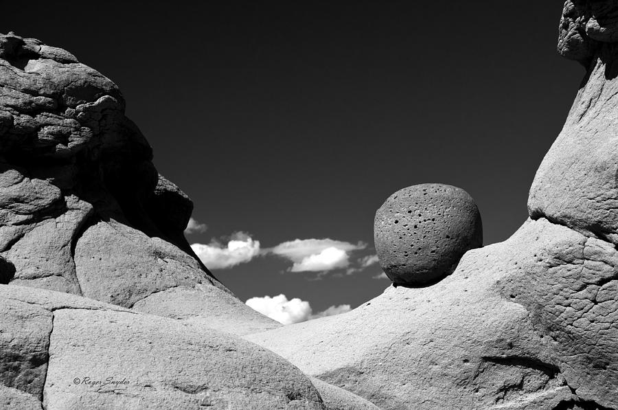 Unique Photos Photograph - Strange Rocks 30 Bw by Roger Snyder
