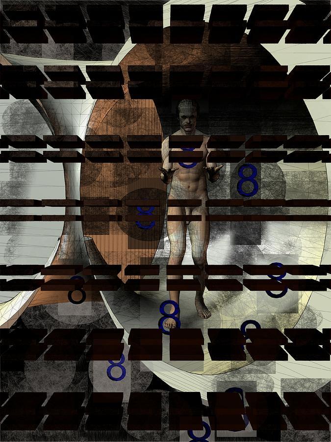 2a91ba4a6836 Computer Digital Art - Strange Shape Figure Eight by Peter Cochran