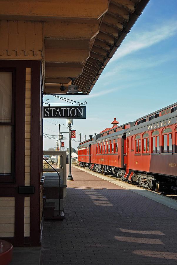 Station Photograph - Strasburg by Skip Willits