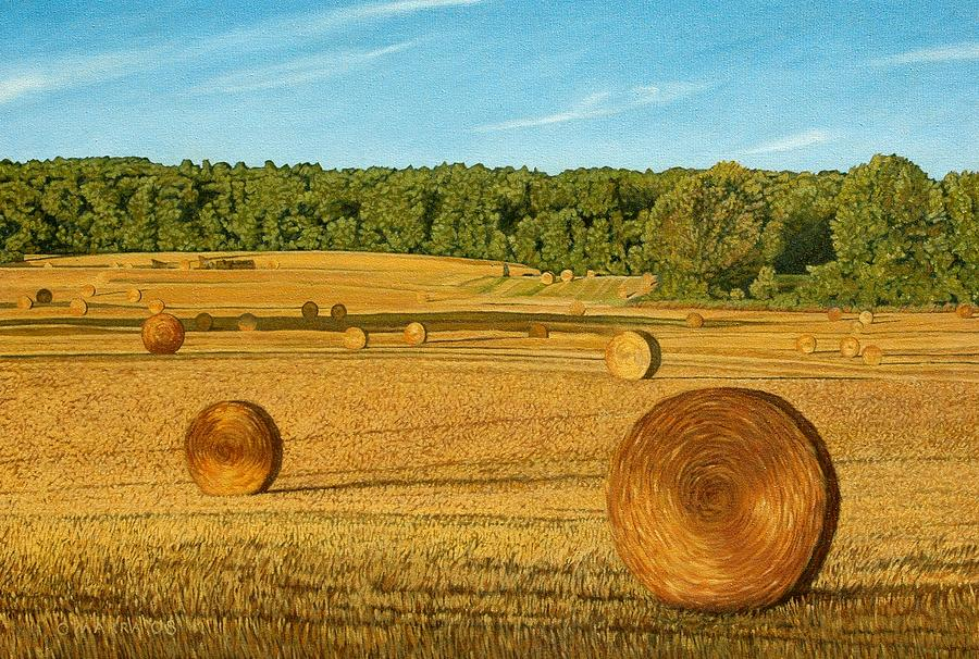 Landscape Painting - Straw Wheels - North Pickering by Allan OMarra