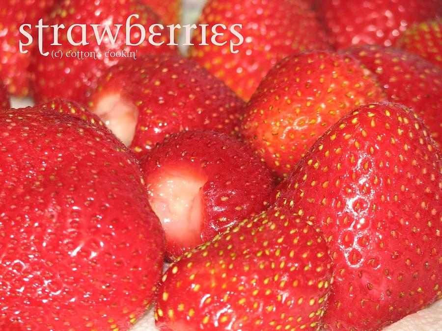 Food Photograph - Strawberries by Cleaster Cotton