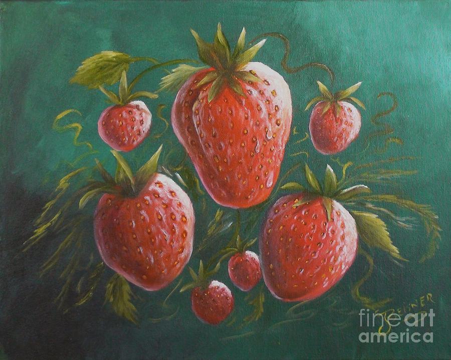 Strawberries Painting - Strawberries by Jeanie Beisner