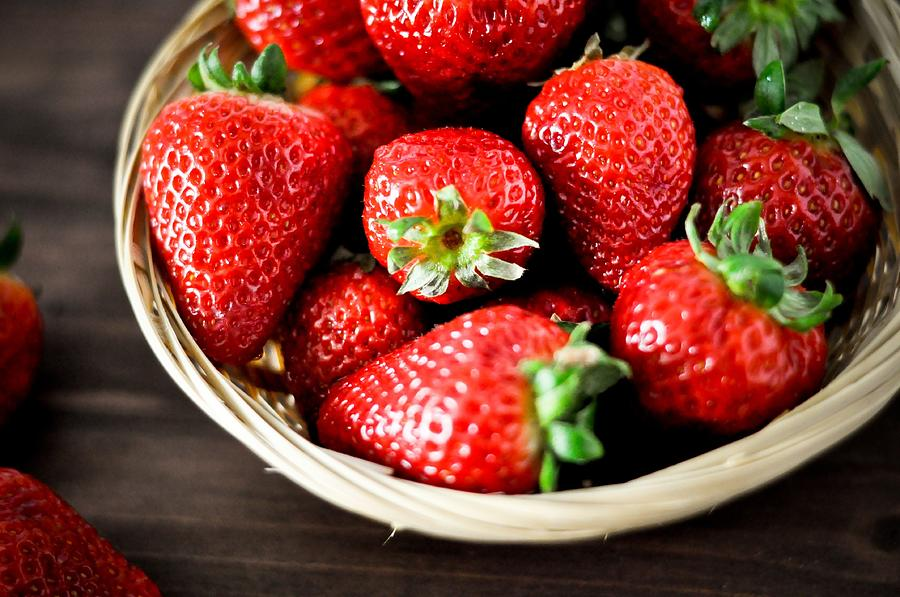 Strawberries Photograph by Kinga Krzeminska